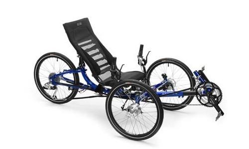 Özel tasarım sarı 3 tekerlekli bisiklet